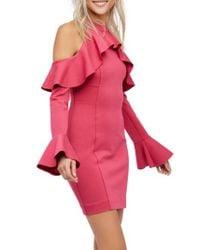Free People - Pink Sweet Talk Cold Shoulder Dress - Lyst