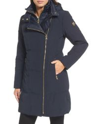 Vince Camuto | Blue Down & Feather Fill Coat | Lyst