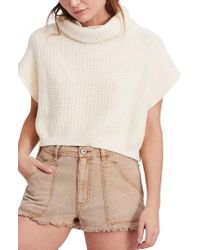 Free People - White Keep It Simple Vest - Lyst
