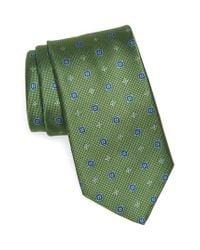 David Donahue | Green Neat Silk Tie for Men | Lyst