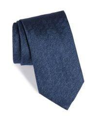 Brioni   Blue Solid Silk Tie for Men   Lyst