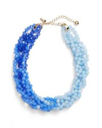 Kate Spade - Blue The Bead Goes On Collar Necklace - Lyst