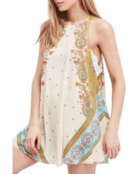 Free People - Multicolor Darjeeling Print Minidress - Lyst
