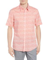 Zachary Prell - Pink Regular Fit Woven Shirt for Men - Lyst