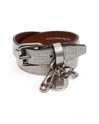 Alexander McQueen - Metallic Safety Pin Wrap Bracelet - Lyst