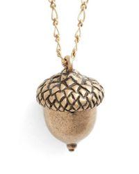 Tory Burch - Metallic Short Acorn Necklace - Lyst
