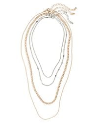 BP. - Metallic 4-pack Chain Necklaces - Lyst