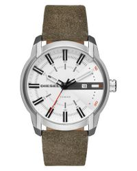 DIESEL | Multicolor Diesel Armbar Leather Strap Watch for Men | Lyst