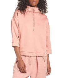 PUMA - Pink Funnel Neck Pullover - Lyst