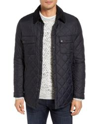 Barbour - Black 'akenside' Regular Fit Quilted Jacket for Men - Lyst