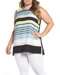 Vince Camuto | Multicolor Harmony Stripe Top | Lyst