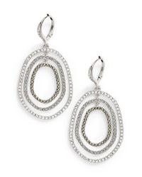 Judith Jack - Metallic Orbital Crystal Drop Earrings - Lyst