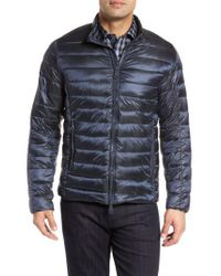 Bugatchi   Blue Channel Quilted Jacket for Men   Lyst