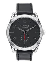 Nixon - Black 'the C45' Leather Strap Watch for Men - Lyst