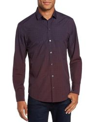 Zachary Prell - Purple Wein Slim Fit Check Sport Shirt for Men - Lyst