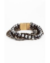 Serefina | Black Layered Statement Bracelet | Lyst