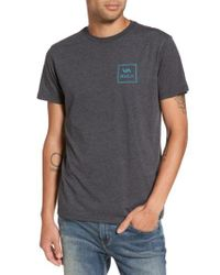 RVCA - Black Grid All The Way Graphic T-shirt for Men - Lyst