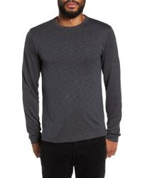Theory | Gray Long Sleeve Henley for Men | Lyst