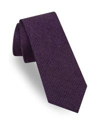 Ted Baker - Purple Geometric Silk Tie for Men - Lyst
