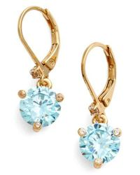 Kate Spade - Blue 'rise And Shine' Lever Back Earrings - Lyst