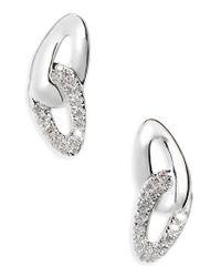 Ippolita - Metallic Cherish Link Diamond Stud Earrings - Lyst