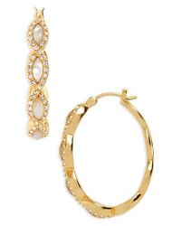 Judith Jack - Metallic Tropical Touches Hoop Earrings - Lyst