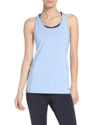 Brooks | Blue 'go-to' Racerback Tank | Lyst