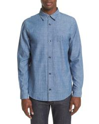 A.P.C. - Blue Chambray Chemise Shirt for Men - Lyst