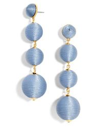 BaubleBar | Blue Criselda Ball Shoulder Duster Earrings | Lyst