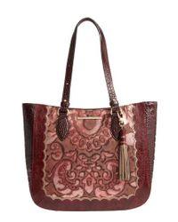 Brahmin - Medium Red Verona - Lena Leather Tote - Lyst