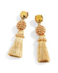 J.Crew - Multicolor Bead & Tassel Drop Earrings - Lyst