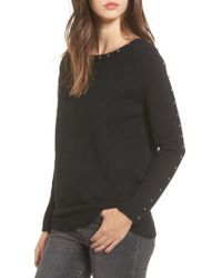Dreamers By Debut - Black Studded Sweater - Lyst