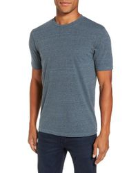 Goodlife - Blue Crewneck Heathered T-shirt for Men - Lyst