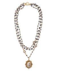 Virgins, Saints & Angels - Metallic San Benito Magdalena Rosary Necklace - Lyst