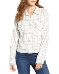 Love, Fire - Multicolor Check Flannel Shirt - Lyst