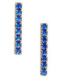 Loren Hope - Blue Paige Bar Stud Earrings - Lyst