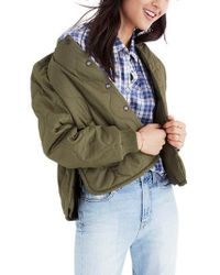 Madewell   Green Quilted Military Jacket   Lyst