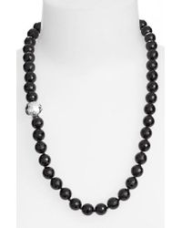 Simon Sebbag - Black Stone Beaded Necklace - Lyst