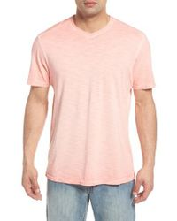 Tommy Bahama - Pink Suncoast Shores V-neck T-shirt for Men - Lyst