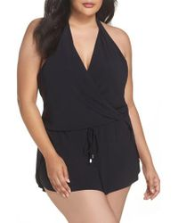 Magicsuitr   Black Magicsuit Bianca One-piece Romper Swimsuit   Lyst