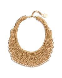 Adia Kibur - Metallic Linked Circle Statement Bib Necklace - Lyst