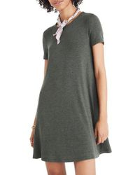 Madewell - Multicolor Ribbed Swingy T-shirt Dress - Lyst
