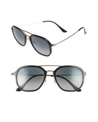 Ray-Ban - Metallic 52mm Square Sunglasses - Lyst