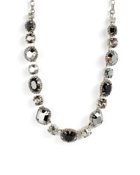 Sorrelli - Black Embellished Elegance Crystal Necklace - Lyst