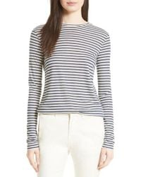 Vince - Multicolor Midi Stripe Long Sleeve Tee - Lyst