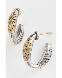 Konstantino - Metallic 'classics' Two-tone Hoop Earrings - Lyst