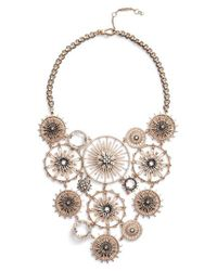 Jenny Packham - Metallic Drama Bib Necklace - Lyst