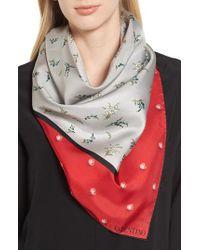 Valentino - Gray Mughetto Square Silk Scarf for Men - Lyst