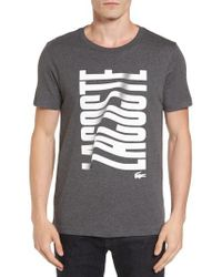 Lacoste | Gray Vertical Graphic T-shirt for Men | Lyst