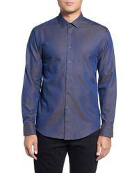 Vince Camuto - Blue Slim Fit Print Sport Shirt for Men - Lyst